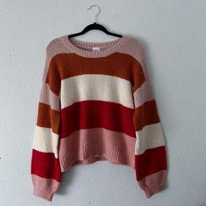 Multi-Color Block Color Sweater